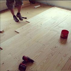 How to install an inexpensive wood floor do it yourself pine diy wood floors solutioingenieria Gallery