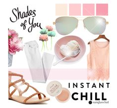 """Shades of You: Sunglass Hut Contest Entry"" by littledesigns ❤ liked on Polyvore featuring Tiffany & Co., Diane James, Corso Como, Fresh, Lands' End, Pink, fashionset and shadesofyou"