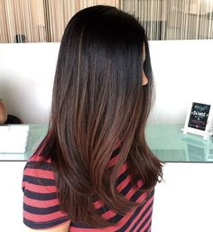black to chocolate brown ombre