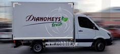 Σήμανση οχημάτων – Dianomeys (www.dianomefs.gr) Η εταιρεία ΔΙΑΝΟΜΕΥΣ ΕΠΕ επέλεξε την εταιρεία μας για τη σήμαση του οχήματος της. Η εταιρεία ΔΙΑΝΟΜΕΥΣ ΕΠΕ ιδρύθηκε το 1997 από επαγγελματίες με μεγάλη εμπειρία στον κλάδο των τροφίμων με στόχο να καλύψει τον απαιτητικό τομέα Trucks, Vehicles, Truck, Car, Vehicle, Tools