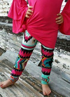 Kids - Dynamite Tribal Leggings Fur Lining