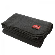 New Wool Charcoal Grey Blanket