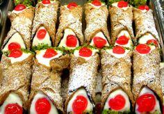 You will find sicilian cannoli in the best bars http://www.dreamsicilyvillas.com/guide/sicily-gastronomy/