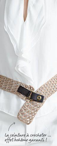 d1110fd5aedd 22 best CEINTURES CROCHET images on Pinterest   Belt, Crochet belt ...