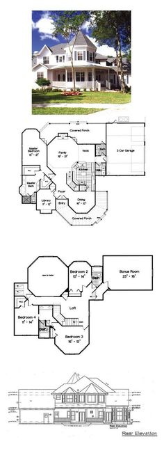 COOL house plans offers a unique variety of professionally designed home plans with floor plans by accredited home designers. Styles include country house plans, colonial, Victorian, European, and ranch. Victorian House Plans, Vintage House Plans, Country House Plans, Victorian Homes, Sims House Plans, Best House Plans, Dream House Plans, House Floor Plans, The Plan
