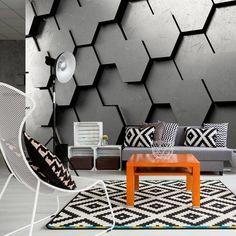 Black Gate x Wallpaper East Urban Home Photo Wallpaper, Of Wallpaper, Geometric Wallpaper 3d, Deco Cool, 3d Wall Murals, Mural Art, 3d Wall Panels, Decoration Design, Original Wallpaper