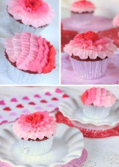 Ombre Ruffle Cupcakes Tutorial