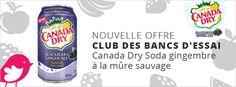 200 boissons Canada Dry Soda gingembre à la mûre sauvage GRATUITES