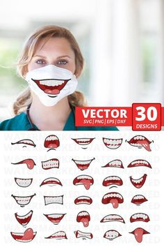 30 MOUTHS FACE MASK svg patterns, face mask pattern bundle, cartoon funny mouth svg, mouth for washable mask, mouth svg __________________________________________________________  OUR DISCOUNTS:  ✔️ BUY 3 ANY ITEMS - GET 25% OFF ENTIRE ORDER ✔️ BUY 10 ANY ITEMS - GET 40% OFF ENTIRE ORDER Diy Mask, Diy Face Mask, Face Masks, Animal Face Mask, Animal Faces, Funny Mouth, Tapas, Funny Face Mask, Sewing Patterns Free