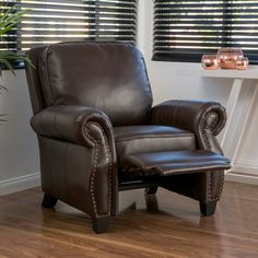 Found it at Wayfair - Tully Faux Leather Recliner