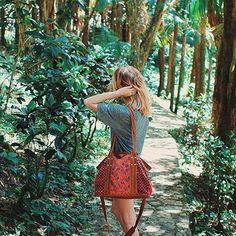 Our miss Zoe adventuring in the Dominican Republic with her Vintage Lucia Carryall. #nenanaco