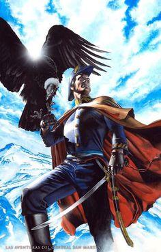 Las Adventuras Del General San Martin by Rodolfo Migliari * Smallville, Fun Comics, Marvel Dc Comics, Power Girl, Fantasy Art, Batman, Superhero, Instagram, Artist