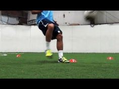 Soccer Speed and Agility   4 Cone Drill Can also be used a football drill for defensive back. Eliminate the soccer ball and add football.