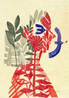 Amanda Mijangos #illustration #bird