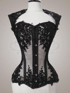 Black lace corset I WANT.