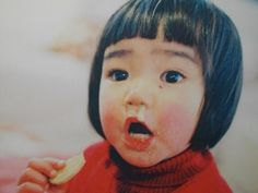 if you can be this cute with a bit fat snot drop...  (Mirai-chan 未来ちゃん : Photographer Kotori Kawashima's model/daughter.)