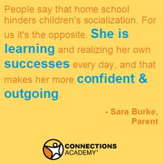 A parent shared how online school made her daughter more outgoing, not afraid to socialize! #homeschool