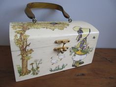 Vintage+Decoupage+Wooden+Box+Purse+Prairie+Holly+by+Scatterbugs,+$38.00