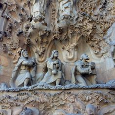 Los tres Reyes Magos en la Sagrada Familia (Barcelona)