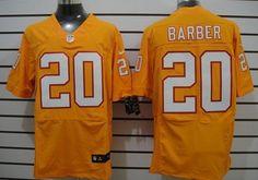 Nike Tampa Bay Buccaneers #20 Ronde Barber Orange Elite Jersey