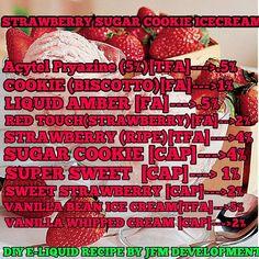 Premium E-liquids straight from the manufacturer Vanilla Whipped Cream, Vanilla Custard, E Juice Recipe, Diy E Liquid, Clone Recipe, Ice Cream Cookies, Vape Juice, Ice Cream Recipes, Coffee Cake