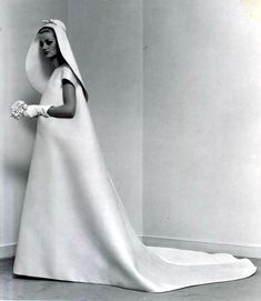 Wedding dress, 1967  #balenciaga #wedding