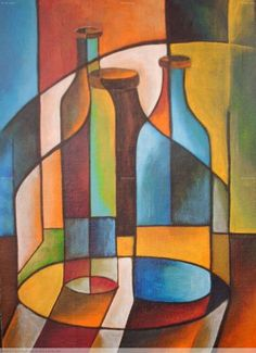 Acrylmalerei Idee - Hobbies paining body for kids and adult Cubist Art, Abstract Art, Color Pencil Art, Geometric Art, Elementary Art, Art Lessons, Art Drawings, Pop Art, Art Projects