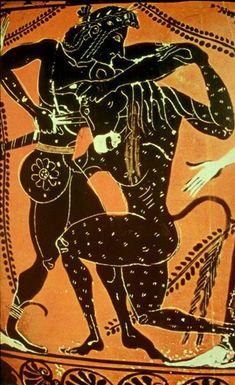 Theseus and the Minotaur (on a C4th Amphora)