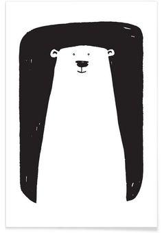 Bear als Premium Poster von Richard Hood | JUNIQE