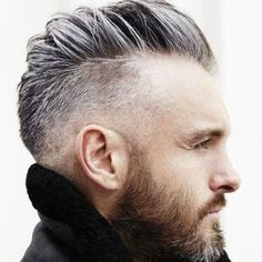 Mohawk haircut http://www.99wtf.net/men/modern-hairstyle-men-with-grey-color/