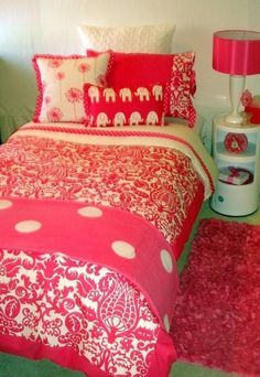 pink power dorm room bedding teen bedding set