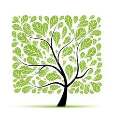 Art tree beautiful for your design vector 945625 - by Kudryashka on VectorStock®