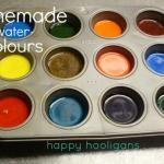 homemade watercolour paints