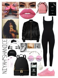 """""""Yep....."""" by adavies1115 ❤ liked on Polyvore featuring Lime Crime, Givenchy, MICHAEL Michael Kors, October's Very Own, Beats by Dr. Dre, adidas Originals and Charlotte Russe"""
