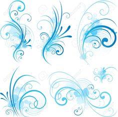 Bandana – Snow Swirls on Blue