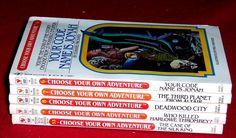 5 Choose your own adventure Chapter Books #6 7 8 9 & 53 Vintage 1980's Ages 8-12 #Bantam