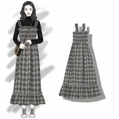 Fashion illustration vintage illustrators moda ideas for 2019 Dress Illustration, Fashion Illustration Vintage, Korea Fashion, Girl Fashion, Stylish Dresses, Fashion Dresses, Best Dress For Girl, Mode Ulzzang, Hijab Stile