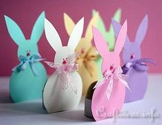 Spring and Easter Paper Craft - Easter Bunny Egg Holders Easter Crafts To Make, Easter Bunny Eggs, Bunnies, Egg Holder, Coloring Easter Eggs, Paper Craft Supplies, Toddler Crafts, Kids Crafts, Easter Party