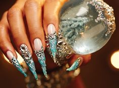 Behind the Scenes: Icicle Snowglobe Nails - Technique - NAILS Magazine