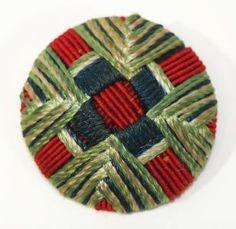 ANTIQUE BUTTON. Antique Buttons from fabric Art Nouveau.