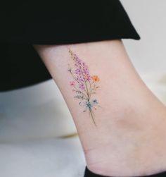 Click for 40 Tattoos That Highlight Femininity #tattoo #tattoos#tattoodesign #tattooidea Korean Tattoo Artist, Butterfly With Flowers Tattoo, Tattoo Goo, Tatoo, Scroll Tattoos, Tattoo Design Drawings, Tattoo Designs, Korean Tattoos, History Tattoos