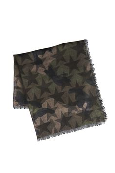 Valentino Garavani wool foulard with camouflage star print
