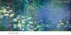 Aamuiset lumpeet Posters tekijänä Claude Monet AllPosters.fi-sivustossa