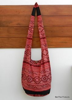 Thai Cotton Bag  Sling Bag Mosaic Elephant by BenThaiProducts