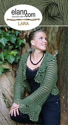 Berenguela Crocheted Shrug By Cristina Mershon - Free Crochet Pattern With Website Registration - (elann)