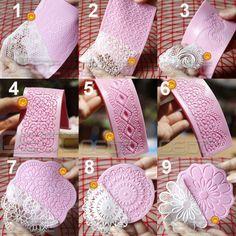 ✔ Lace Shaped Silicone Mold Mould Fondant Cake Decoration Baking Tools 9 Patterns | eBay