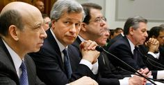 Executives from the financial institutions who received TARP funds, (L-R) Goldman Sachs Chairman and CEO Lloyd Blankfein, JPMorgan Chase & Co Chairman and CEO Jamie Dimon, The Bank of New York ...