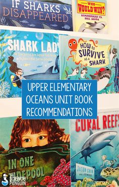 Upper Elementary Oceans Life Science Unit Book Recommendations and an Ocean Life Activities resource. 4th Grade Science, Elementary Science, Science Education, Upper Elementary, Life Science, Science Resources, Science Classroom, Teaching Science, Earth Science
