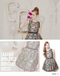 Holiday Party Style - Bicyclette Boutique // Ladakh Opulence Brocade Dress
