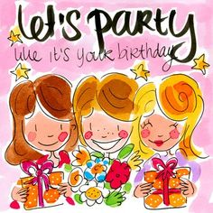 Kaart - Let S Party - Birthday - Blond Amsterdam Amsterdam Party, Blond Amsterdam, Bunny Crafts, Easter Crafts For Kids, Easter Ideas, Valentine Wreath, Valentine Day Crafts, Happy Birthday Quotes, Birthday Wishes